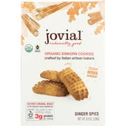 Jovial Organic Ginger Spice Einkorn Cookie, 8.8 Ounce -- 12 per case.