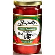 Braswells All Natural Hot Jalapeno Pepper Jelly, 10.5 Ounce -- 6 per case.