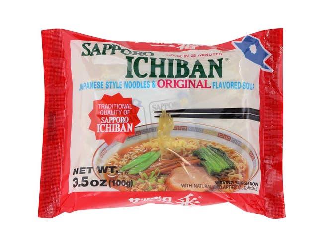 Sapporo Ichiban Original Ramen Noodle, 3.5 Ounce -- 24 per case.