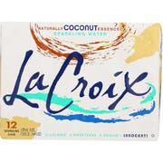 Lacroix Coconut Sparkling Water, 12 Fluid Ounce Can -- 24 per case.