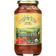 OrganicVille Organic Tomato Basil Pasta Sauce, 24 Ounce -- 12 per case.
