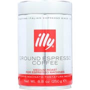 Illy Regular Fine Grind Espresso Coffee, 8.8 Ounce -- 6 per case.