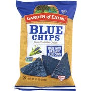Garden Of Eatin Organic Blue Corn Tortilla Chips, 8.1 Ounce -- 12 per case.