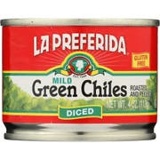 La Preferida Mild Diced Green Chili, 4 Ounce -- 24 per case.