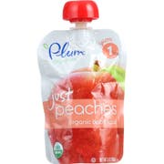 Plum Organics Just Peach Baby Food, 3.5 Ounce -- 6 per case.