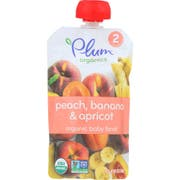 Plum Organics Peach Apricot and Banana Baby Food, 4 Ounce -- 6 per case.