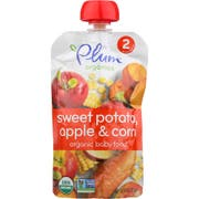 Plum Organics Sweet Potato Corn and Apple Baby Food, 4 Ounce -- 6 per case.