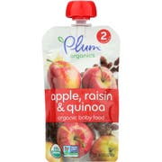 Plum Organics Second Blends Apple Raisin and Quinoa Baby Food, 3.5 Ounce -- 6 per case.