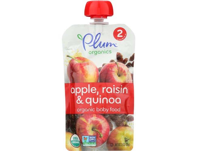 Plum Organics Second Blends Apple Raisin and Quinoa Baby Food, 3.5 Ounce -- 6 per case.