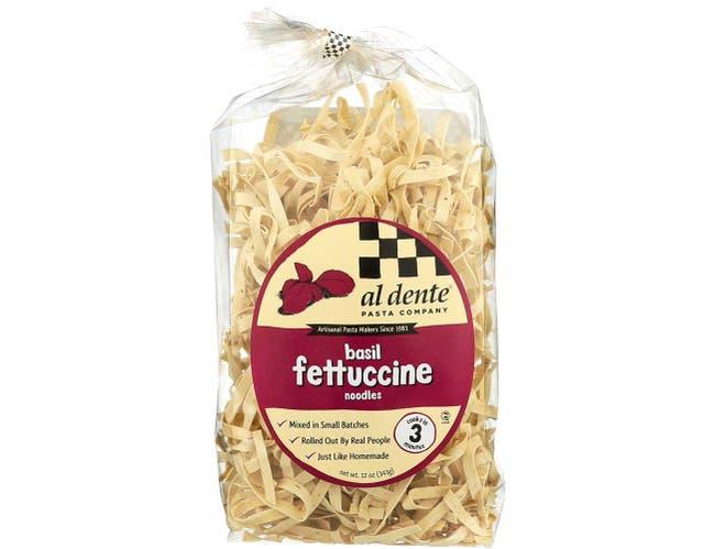 Al Dente Basil Fettuccine Pasta, 12 Ounce -- 6 per case.