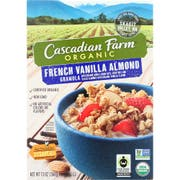 Cascadian Farm Organic French Vanilla Almond Granola, 13 Ounce -- 6 per case.