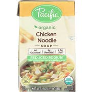 Pacific Foods Organic Reduced Sodium Chicken Noodle Soup, 17 Ounce -- 12 per case.