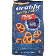 Gratify Gluten Free Sea Salt Twists Pretzel, 14.1 Ounce -- 6 per case.
