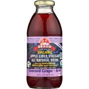 Bragg Organic Concord Grape Acai Apple Cider Vinegar Drink,16 Ounce -- 12 per case.