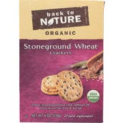 Back to Nature Organic Stoneground Wheat Cracker, 6 Ounce -- 6 per case.