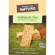 Back to Nature Multigrain Flax Seeded Flatbread Cracker, 5.5 Ounce -- 6 per case.
