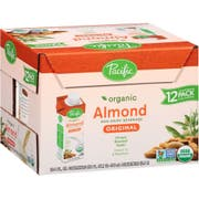 Pacific Organic Original Almond Beverage, 8 Fluid Ounce -- 12 per case