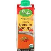 Pacific Foods Organic Creamy Tomato Soup, 8 Ounce -- 12 per case.