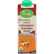 Pacific Foods Organic Roasted Red Pepper and Tomato Soup, 8 Ounce -- 12 per case.