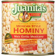 Juanitas Foods Mexican Style Hominy, 25 Ounce -- 12 per case.