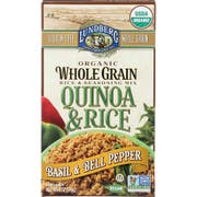 Lundberg Organic Whole Grain Quinoa and Rice with Basil and Bell Pepper, 6 Ounce -- 6 per case.