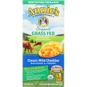 Annies Homegrown Organic Grass Fed Classic Mild Cheddar Macaroni and Cheese, 6 Ounce -- 12 per case.