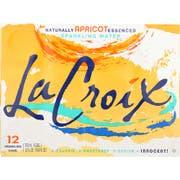 Lacroix Apricot Sparkling Water, 12 Fluid Ounce - 12 per pack -- 2 packs per case.