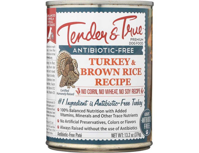 Tender and True Turkey and Brown Rice Recipe Wet Cat Food, 13.2 Ounce -- 12 per case.