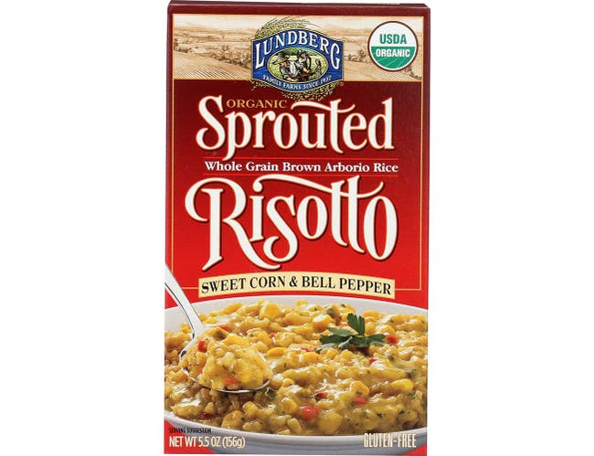 Lundberg Organic Sweet Corn and Bell Pepper Sprouted Risotto, 5.5 Ounce -- 6 per case.