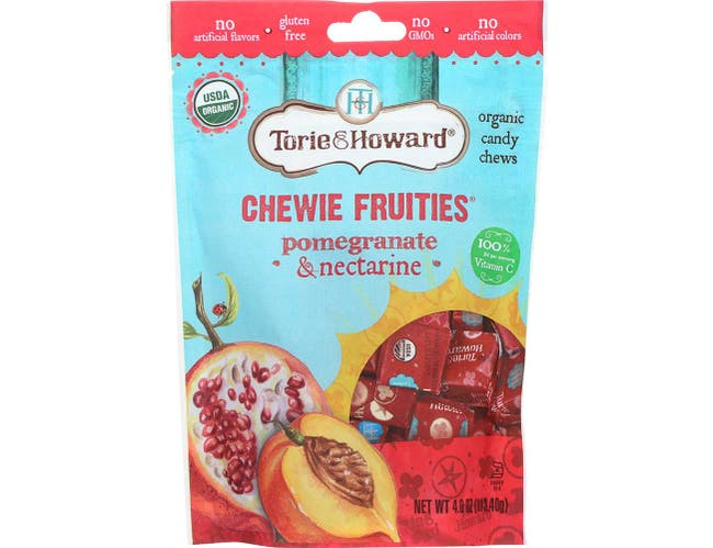 Torie and Howard Organic Pomegranate and Nectarine Chewie Fruities, 4 Ounce -- 6 per case.