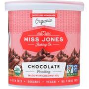 Miss Jones Organic Chocolate Frosting, 320 Gram -- 6 per case.