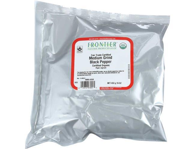 Frontier Herb Organic Black Medium Grind Pepper, 1 Pound -- 1 each.