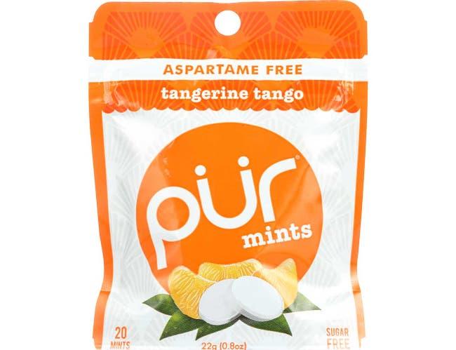 Pur Tangerine Tango Sugarfree Gum, 22 Gram -- 12 per case.