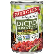 Muir Glen Organic Fire Roasted Diced Tomato, 14.5 Ounce -- 12 per case.