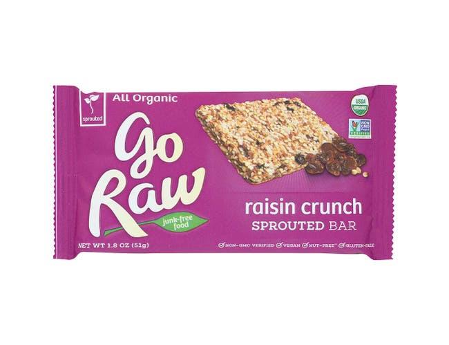 Go Raw Organic Raisin Crunch Sprouted Bar, 1.8 Ounce -- 20 per case.
