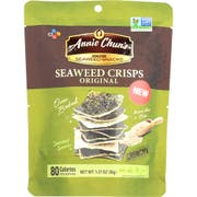 Annie Chuns Brown Rice Seaweed Crisps, 1.27 Ounce -- 10 per case.