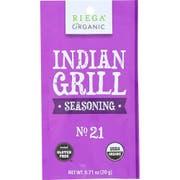 Riega Foods Organic Gluten Free Indian Grill Seasoning, 0.71 Ounce -- 8 per case.