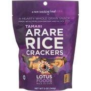 Lotus Foods Shoyu Arare Rice Crackers, 5 Ounce -- 8 per case.