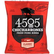 4505 Classic Chili and Salt Fried Pork Rinds Chicharrones, 1 Ounce -- 24 per case.