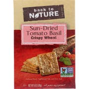 Back to Nature Sundried Tomato Basil Crispy Wheat Cracker, 8 Ounce -- 6 per case.
