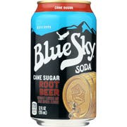 Blue Sky Root Beer Cane Sugar Soda, 12 Fluid Ounce -- 24 per case.