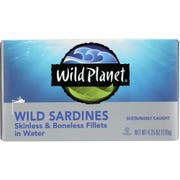 Wild Planet Wild Sardines Skinless and Boneless Fillets in Water, 4.25 Ounce -- 12 per case.