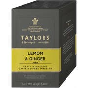 Taylors of Harrogate Lemon Ginger Herbal Infusion Tea Bag, 20 count per pack -- 6 per case.