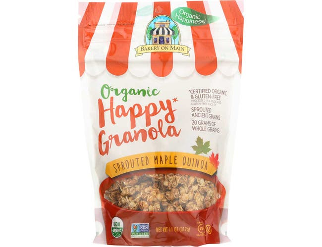 Bakery On Main Organic Sprouted Maple Quinoa Happy Granola, 11 Ounce -- 6 per case.