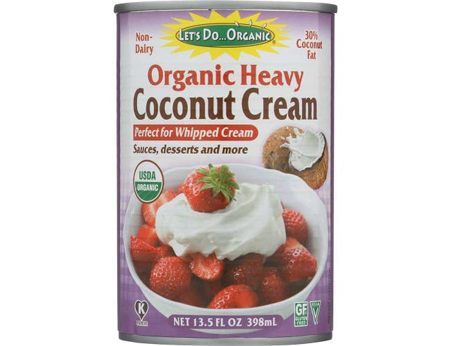 Lets Do Organic Heavy Coconut Cream, 13.5 Fluid Ounce -- 12 per case.