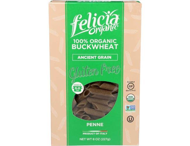 Felicia Organic Buckwheat Penne Pasta, 8 Ounce -- 6 per case.