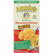 Annies Homegrown Organic 20 Percent More Macaroni and Cheese, 6 Ounce -- 12 per case.
