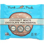 Munk Pack Coconut White Chocolate Macadamia Cookie, 2.96 Ounce -- 6 per case.