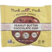 Munk Pack Peanut Butter Chocolate Chip Protein Cookie, 2.96 Ounce -- 6 per case.