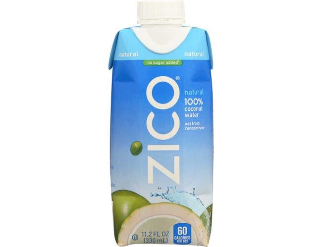 Zico Pure Premium Natural Flavor Coconut Water, 330 Milliliter -- 12 per case.